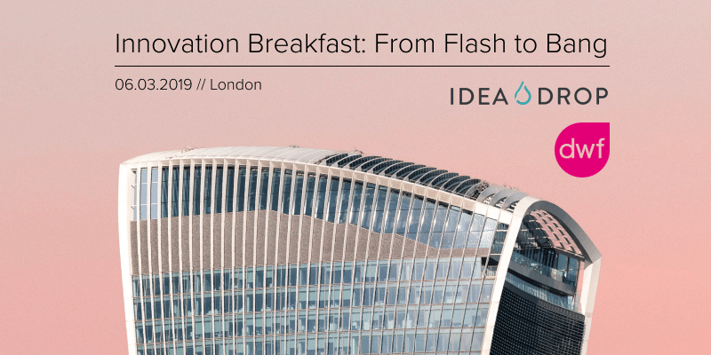 Innovation Breakfast: From Flash to Bang